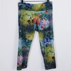 Onzie galaxy sky yoga cropped leggings sz Lg